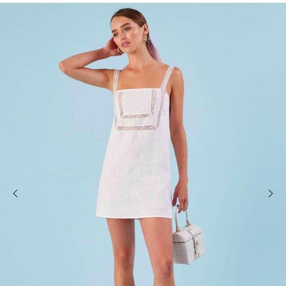 Reformation Ida Dress in White, Size XS, NWT